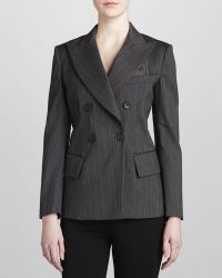 Donna Karan New York Double-breasted Striped Jacket - Lyst
