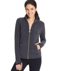 Calvin Klein Performance Logo Fleece Zip-up Jacket - Lyst