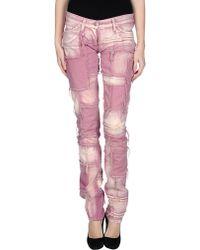 Isabel Marant Denim Trousers purple - Lyst