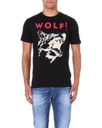 Diesel T-kesar Cotton-jersey T-shirt Black - Lyst