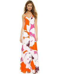 Diane von Furstenberg Barths Maxi Dress - Eden Garden Multi - Lyst