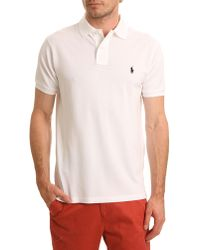 Polo Ralph Lauren White Slim Fit Stretch Polo - Lyst