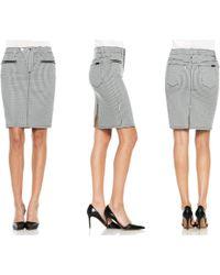 Joe's Jeans Zip Moto Pencil Skirt - Lyst
