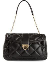 Ferragamo Quilted Shoulder Bag - Lyst