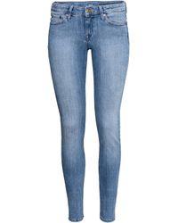 H&M Super Skinny Low Jeans - Lyst