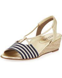 Anyi Lu - Leah Striped Demiwedge Sandal - Lyst