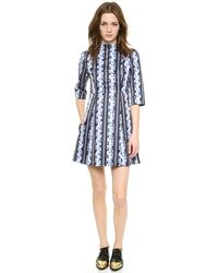 Suno Mini Flare Dress   - Lyst