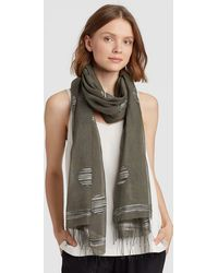Eileen Fisher - Handwoven Organic Cotton Silk Jamdani Scarf - Lyst