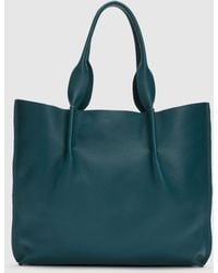 Eileen Fisher - Grainy Italian Leather Tote - Lyst