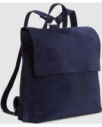 Eileen Fisher - Italian Suede Small Backpack - Lyst
