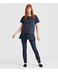 Eileen Fisher - Resewn Organic Cotton-blocked Tunic - Lyst