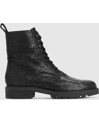 6454cc6025df Eileen Fisher - Ripley Intaglio Leather Ankle Boot - Lyst