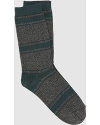 Eileen Fisher - Fine Cotton Striped Sock - Lyst