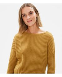 Eileen Fisher - Seamless Italian Cashmere Ribbed Box-top - Lyst