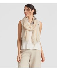 Eileen Fisher - Handwoven Ethiopian Cotton Stripe Scarf - Lyst