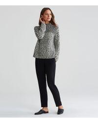 Eileen Fisher - Peruvian Organic Cotton Funnel Neck Top - Lyst