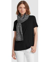 Eileen Fisher - Optical Organic Cotton Silk Scarf - Lyst