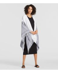 Eileen Fisher - Recycled Cotton Diamond Serape - Lyst