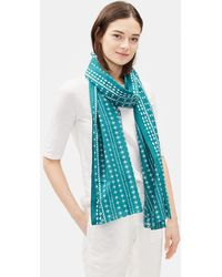 Eileen Fisher - Printed Organic Cotton Silk Scarf - Lyst
