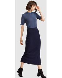 Eileen Fisher - Luxe Merino Stretch Pencil Skirt - Lyst