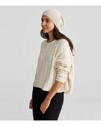 Eileen Fisher - Handknit Peruvian Organic Cotton Pom-pom Hat - Lyst