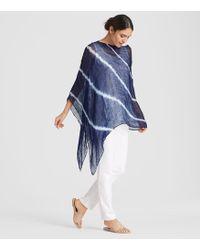 Eileen Fisher - Exclusive Organic Linen Shibori Orbit Poncho - Lyst
