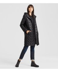 Eileen Fisher - Chevron Recycled Nylon Hooded Coat - Lyst