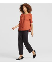 Eileen Fisher - Organic Cotton Boxy Top - Lyst
