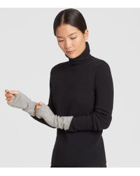 Eileen Fisher - Lofty Recycled Cashmere Striped Glovelettes - Lyst