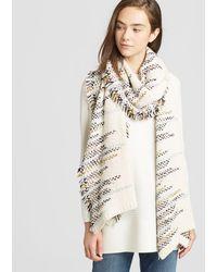 Eileen Fisher - Peruvian Organic Cotton Fringed Scarf - Lyst