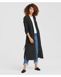 Eileen Fisher - Morse Code Viscose Kimono Jacket - Lyst