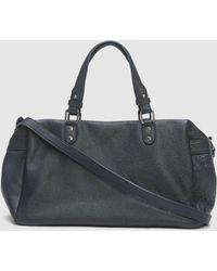 Eileen Fisher - Textured Italian Leather Duffel Bag - Lyst