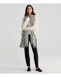 Eileen Fisher | Handwoven Peruvian Organic Cotton Alpaca Stripe Scarf | Lyst
