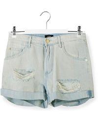 Madegold - Distressed Denim Boyfriend Shorts - Lyst
