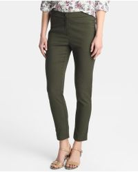 Zendra El Corte Inglés - El Corte Inglés Zendra Skinny Trousers With Jacquard - Lyst