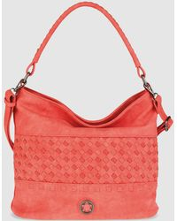 Caminatta - Coral Hobo Bag With Outer Plaiting And Removable Strap - Lyst