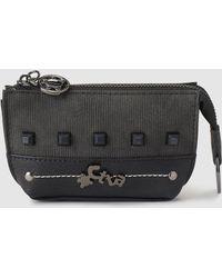 Caminatta - Black Wallet With Matching Studs - Lyst