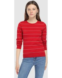 Green Coast - Striped Sweater With A Round Collar - Lyst