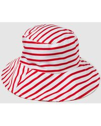 Gloria Ortiz - Cotton Beach Hat With Red Stripes - Lyst
