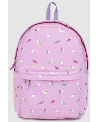 El Corte Inglés - Wo Lilac Bird Print Neoprene Backpack - Lyst
