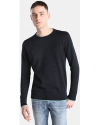 Green Coast - Navy Blue Jumper With A Round Collar - Lyst