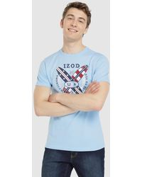 Izod - Blue Short Sleeve T-shirt - Lyst