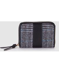 El Corte Inglés - Small Black Mixed Material Wallet With Zip - Lyst