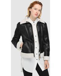 Armani Exchange - Eco-leather And Fleece Jacket - Lyst