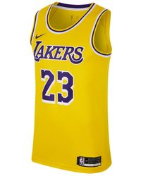 c25e82518f9c8a Nike - Los Angeles Lakers 2018-2019 Lebron James Icon Edition Nba Connected  T-