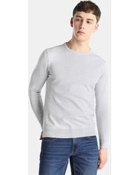 Green Coast - Light Grey Sweater With A Round Collar - Lyst