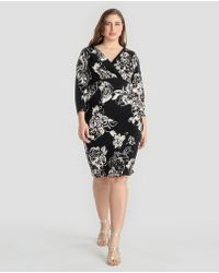 Denim & Supply Ralph Lauren - Plus Size Floral Print V-neck Dress - Lyst
