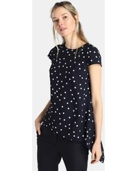 Yera - Polka Dot Blouse With Side Frill - Lyst