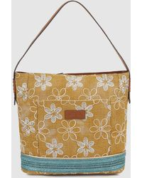 Robert Pietri - Yellow Fabric Hobo Bag With Floral Embroidery - Lyst