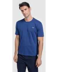 Lacoste - Basic Blue T-shirt - Lyst
